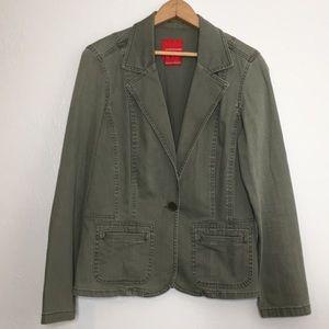 Gloria Vanderbilt  army green denim blazer M